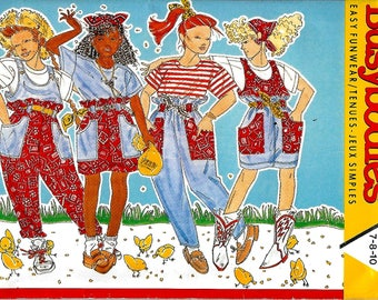 Butterick 3798    Girl's Jumper, Overalls, Skirt, Pants and Top   Size 7-10  Uncut