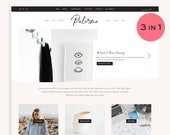 NEW! Palermo • 3 LAYOUTS Included • Fashion + Lifestyle Blogger Template.