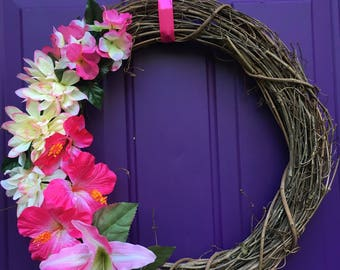 Grapevine Wreath, Hot Pink!