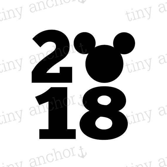 Printable 2018 Mickey Disney Inspired Iron On Transfer