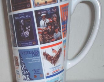 Veteran's Day through the decades ceramic coffee mug