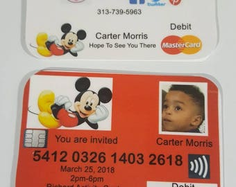 Custom Credit Card Invites