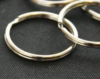 300 Qty Key Rings, Nickle Plated /1 Inch (25mm)/ Split Ring Key Chain Connector