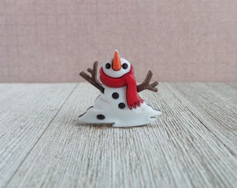 Melting Snowman - Spring - Winter - Snow - Lapel Pin