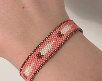 Peyote Stitch Feather Bracelet