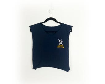 Sleeveless 'Touched By An Angel' Side Tie Tee