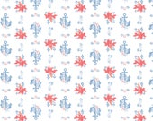 Disney Fabric Little Mermaid Fabric Sebastian & Anchor in White From Camelot 100% Premium Cotton