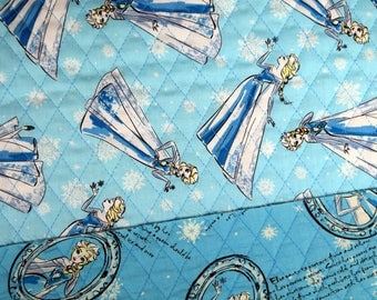 Disney Fabric Frozen Elsa Sketch Double Faced Quilted Fabric