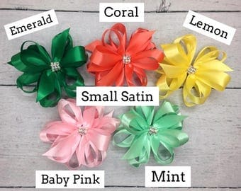 Small Satin Bows