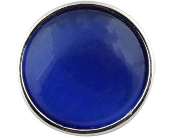 Button pressure 18mm Royal Blue Cat's eye