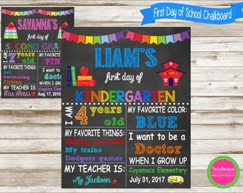 Back to School Chalkboard, Back to School Sign, First Day of School Sign, First Day of School Chalkboard, Back to School Chalkboard Poster