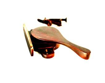 Side Mount Pressure Window Sash Lock Aged Bronze Hardware
