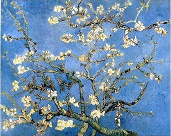Vincent Van Gogh, Almond Tree, 1890, Blossoms, Flowers, Plant, Vintage