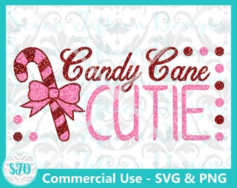 Candy Cane Cutie - Christmas SVG & PNG - Commercial Use OK