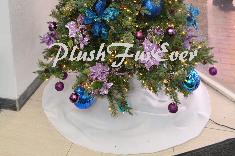 30 3' 4' 5' POLAR FLEECE Round Tree Skirts Christmas Light ...