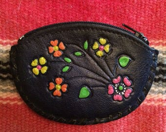 Tooled Leather Coin Purse