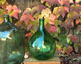 """Old toughened glass demijohns   """" dame  Jeanne """""""