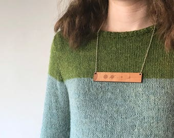 Solar system necklace, laser cut necklace, geek chic necklace, statement necklace, geek jewellery, science necklace, xmas gifts for geeks