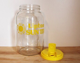 Vintage Glass Lipton Sun Tea Jar/Jug