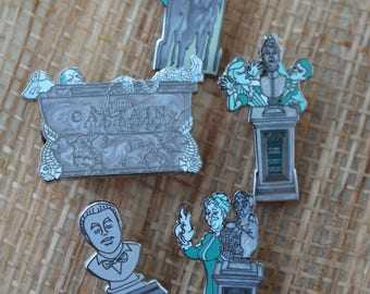 Set of (5) Collector Disney Pins, Haunted Mansion, *Hurry Before Sale Ends*