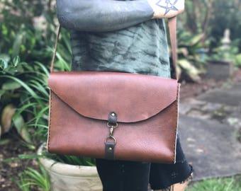 Hand-stitched genuine Leather! laptop case//shoulder bag
