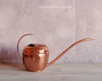 Vintage copper Watering Can,  COPPER WATERING CAN Made by Sigg Switzerland, Home decor