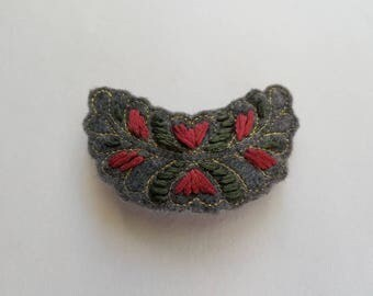 Embroidered Barrette