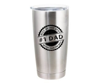 Number 1 Dad Stamp of Approval  - 20 Ounce Stainless Steel Tumbler