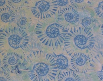 Clearance SALE Tranquil Tides -Blue Sprials~Cotton Fabric,~ Northcott~21035-42-Fast Shipping N310