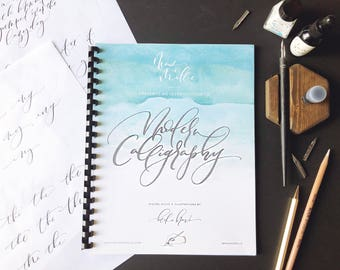 Calligraphy Hand Lettering Brush Lettering Pointed Pen Digital Download Modern Calligraphy Practice Sheets Lettering Guide for Beginners