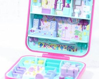 Vintage Bluebird Toys 1989 Polly Pocket Compact Suprise Birthday Party, pollyville, bluebird, 90s polly pocket