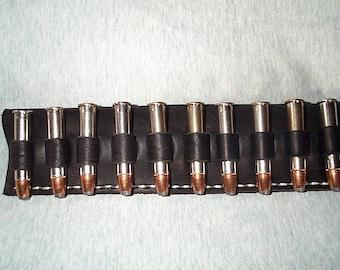 Leather Cartridge Belt slide holder, .45-70, .444, .450, .416, .458, .45 Colt, .410, 10 rounds