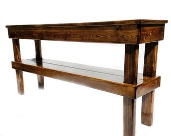 Farmhouse Media Table, Rustic Console Table, Reclaimed Wood Table, Rustic  Furniture Decor Indoor
