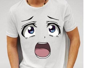 Anime Face White T-shirt (men)