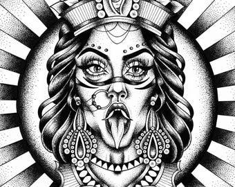 Maha Kali Print - A4