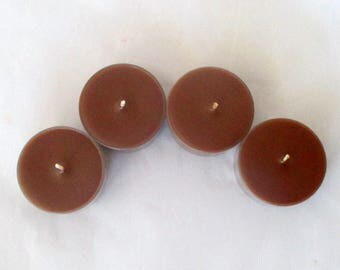 Chocolate Tealights, chocolate candle, chocolate fudge, tea candles, soy candles, scented candles, scented soy candles, tea light candles
