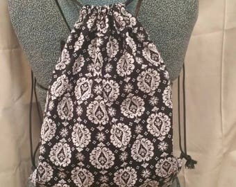 Zip string backpack/purse, lanyard and wristlet Keychain combo