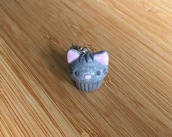 Cat Cupcake - Stitch Marker or Progress Keeper Charm