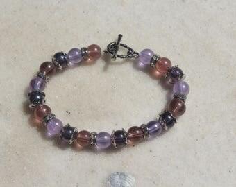 Shades of Purple Beaded Bracelet