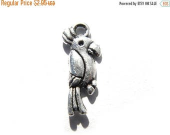 HALF PRICE 10 Silver Parrot Charms - Pirate Charm