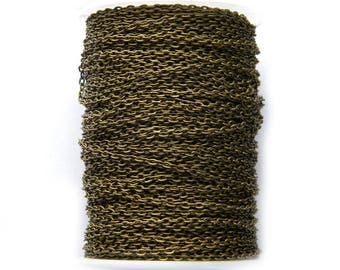 3 Yards Bronze Cable Chain 2mm Wide