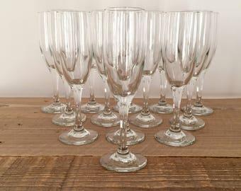 Set of 13 Vintage Minimalist Champagne Flutes