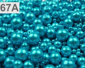 A 67-100 g of 4-12 mm glass pearl beads different sizes