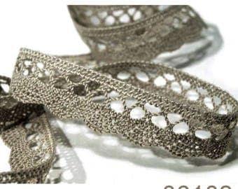 06102 - 18 mm grey cotton lace Ribbon