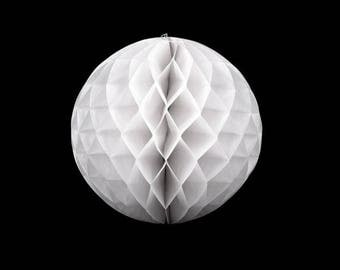 Decorative paper Lantern 25 cm diameter white ball