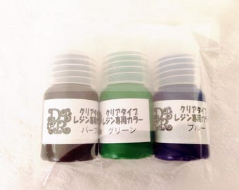 3 Pigmentsx5g type light - blue, purple, green tinted resin creations