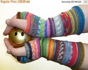 SALE 20% OFF Knit Fingerless gloves | Knitted Fingerless Mittens | Long Arm Warmers | Hand Warmers | Boho Glove | Wrist Warmers
