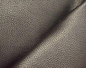 "Metallic Basic Gunmetal Leather Cow Hide 8"" x 10"" Pre-cut 4-5oz grainy DE-66247 (Sec. 4,Shelf 5,A)"