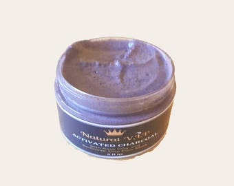 Activated Charcoal Face Mask, with Rose Clay and Bentonite Clay. Great to detox face and for acne treatment.