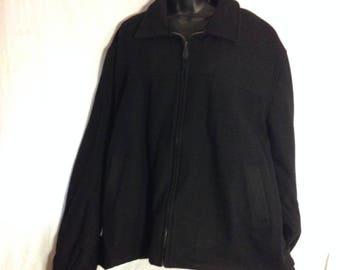 V014 Van Heusen bomber jacket mens size XXL, snap closure on wrist and sides,zipper front closure